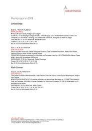 Musikprogramm_Grafenegg 2009 - Weinreisen Austria