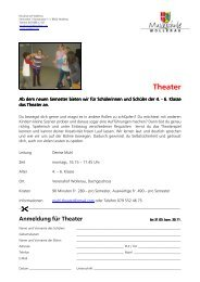 Theater - Gemeinde Wollerau