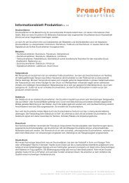Informationsblatt Produktion (PDF) - PromoFine Werbeartikel ...