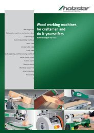 Wood working machines for craftsmen and do-it-yourselfers