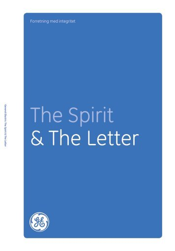 The Spirit & The Letter Download in Danish: GE Code of Conduct