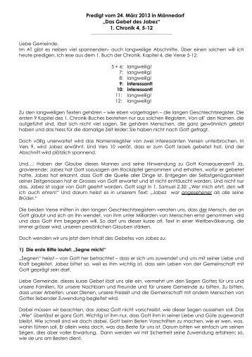 Predigt vom 27 - emk-maennedorf.ch