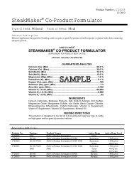 SteakMaker® Co-Product Formulator - Beeflinks