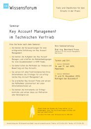 Key Account Management im Technischen Vertrieb - SCOPE ONLINE