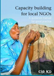 Capacity building for local NGOs: A guidance manual - Capacity.org