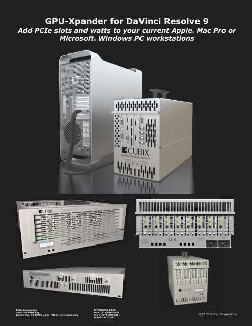 GPU-Xpander for DaVinci Resolve 9 - Cubix