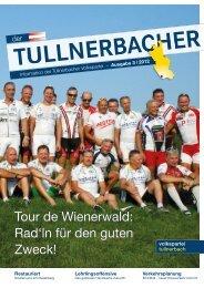 Tour de Wienerwald: Rad'ln für den guten Zweck! - VP Tullnerbach