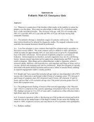 Pediatric Male GU Emergency Quiz Answers - AAEM