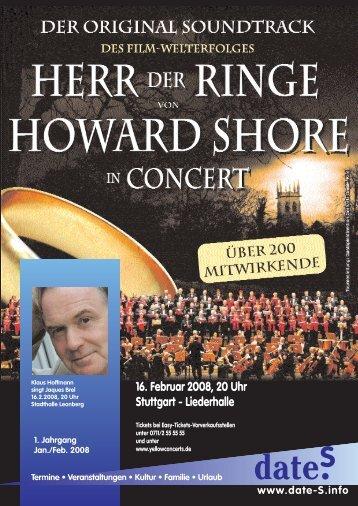 16. Februar 2008, 20 Uhr Stuttgart - Liederhalle - date-S