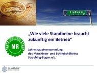 Strategie - Maschinenring Straubing - Bogen eV