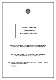 AGENDA APPENDIX Council Meeting Wednesday 23 March 2011