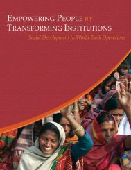 Empowering People by Transforming Institutions: Social ...