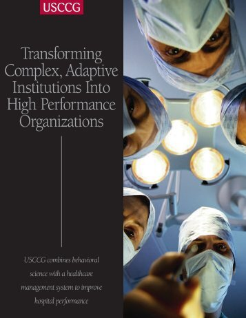 Transforming Complex, Adaptive Institutions Into High Performance ...