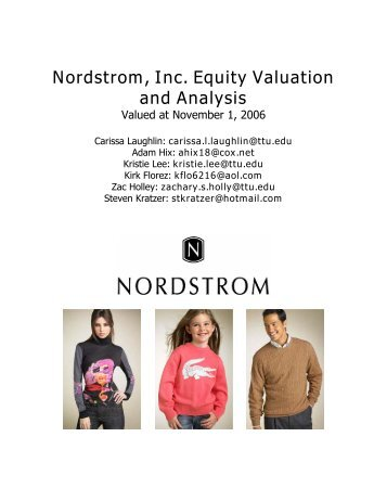 Nordstrom, Inc. Equity Valuation And Analysis - Mark Moore