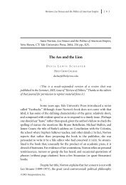 The Ass and the Lion - Interpretation:  A Journal of Political Philosophy