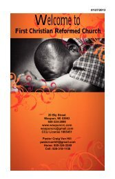 January 27 - First Christian Reformed Church
