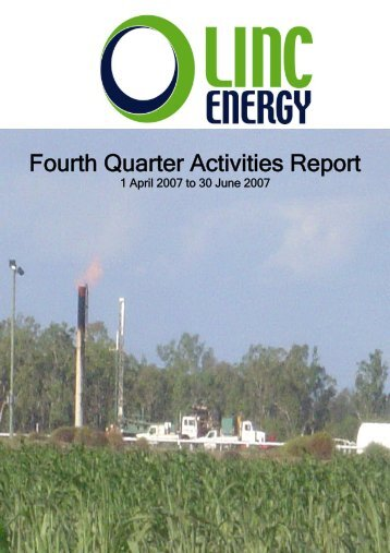 Fourth Quarter Activities Report - Linc Energy