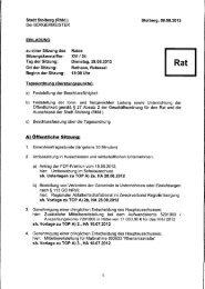 A) Öffentliche Sitzung: - Stolberg