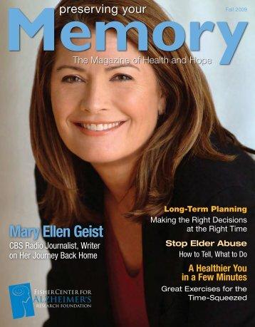 Mary Ellen Geist - Fisher Center for Alzheimer's Research Foundation