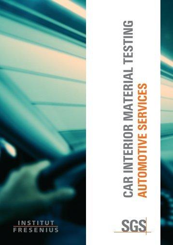CAR INTERIOR MATERIAL TESTING - Institut Fresenius