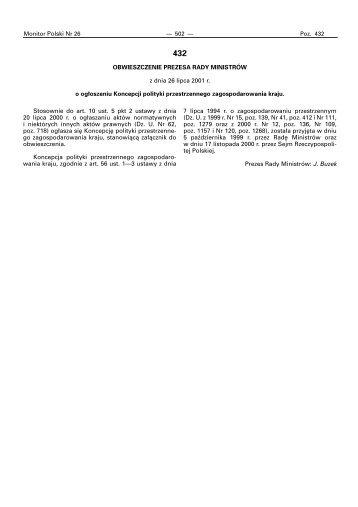 Monitor Polski Nr 26 - Ministerstwo Rozwoju Regionalnego