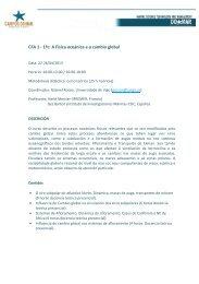 CFA 1 - 1ºc: A Física oceánica e o cambio global - Campus do Mar