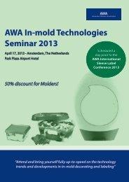 AWA In-mold Technologies Seminar 2013 - Trexel