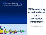 MFTransparency et de l'Initiative sur la Tarification Transparente