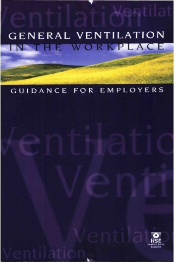 General Ventilation in the Workplace Guidance for Employers