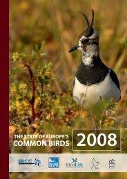 The State of Europe's Common Birds 2008 - European Bird Census ...