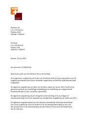 Brief aan bestuur Platform VG en CG-Raad - KansPlus