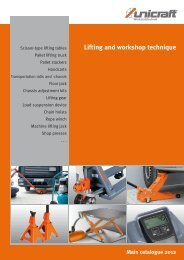 Main catalogue 2012 Lifting and workshop technique - catalogues