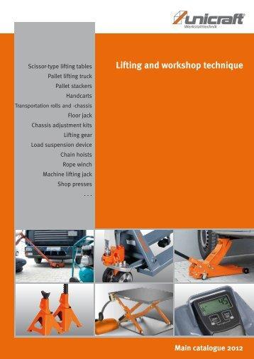Main catalogue 2012 Lifting and workshop technique - catalogues