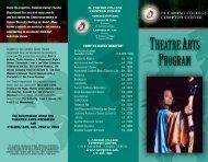 El Camino College Compton Center Theatre Arts Program brochure