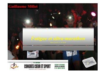F i l h Fatigue et ultra-marathon - Club des Cardiologues du Sport