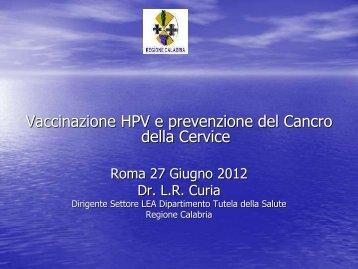 Vaccinazione HPV e prevenzione del Cancro della Cervice