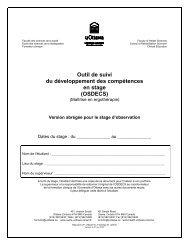 OSDECS - Faculté des sciences de la santé - Université d'Ottawa