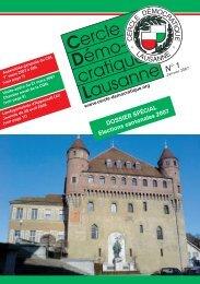 Janvier 2007 - Cercle Démocratique Lausanne