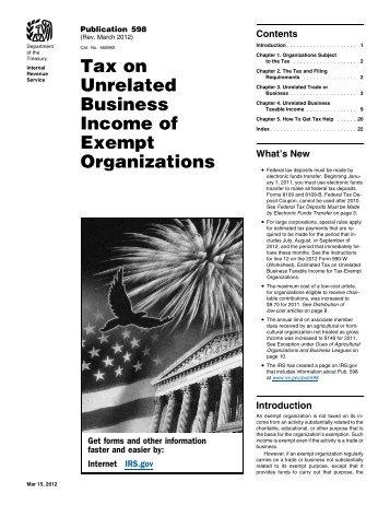 Publication 598 (Rev. March 2012) - Internal Revenue Service