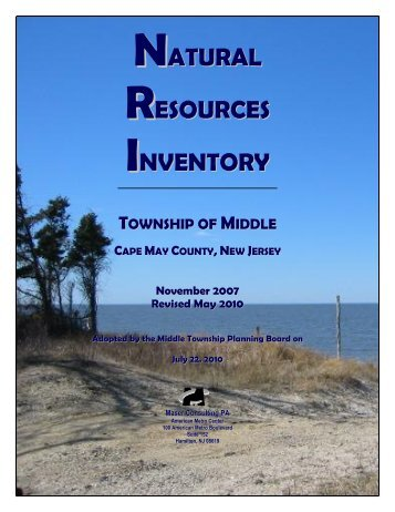 Natural Resources Inventory - Revised May 2010 - Middle Township