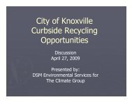 Recycling Analysis - April 27, 2009 [PDF] - City of Knoxville