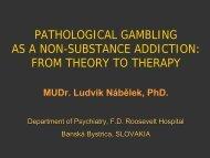 pathological gambling as a non-substance addiction - European ...