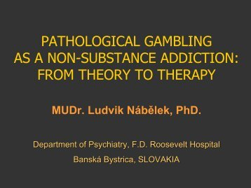 a study on pathological gambling as an addiction South central (rural) mirecc clinical thank you for downloading this south central (rural) mirecc clinical education addiction 3 how is pathological.