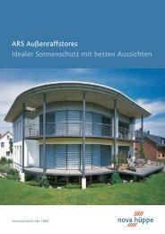 ARS Außenraffstores Idealer Sonnenschutz mit besten Aussichten
