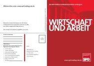 wirtschaft und arbeit - Daniela Behrens