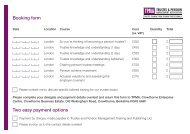 Booking form Two easy payment options