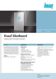 Knauf Silentboard -tuotekortti