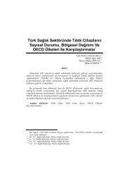 Türk Sağlık Sektöründe Tıbbi Cihazların Sayısal Durumu, Bölgesel ...