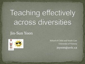 Jin-Sun Yoon - University of Victoria