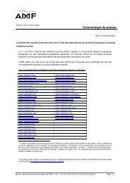 L'Autorité des marchés financiers met à jour la liste des sites ... - ARPP